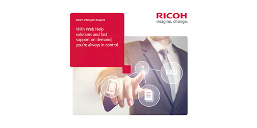RICOH Intelligent Support webes súgó